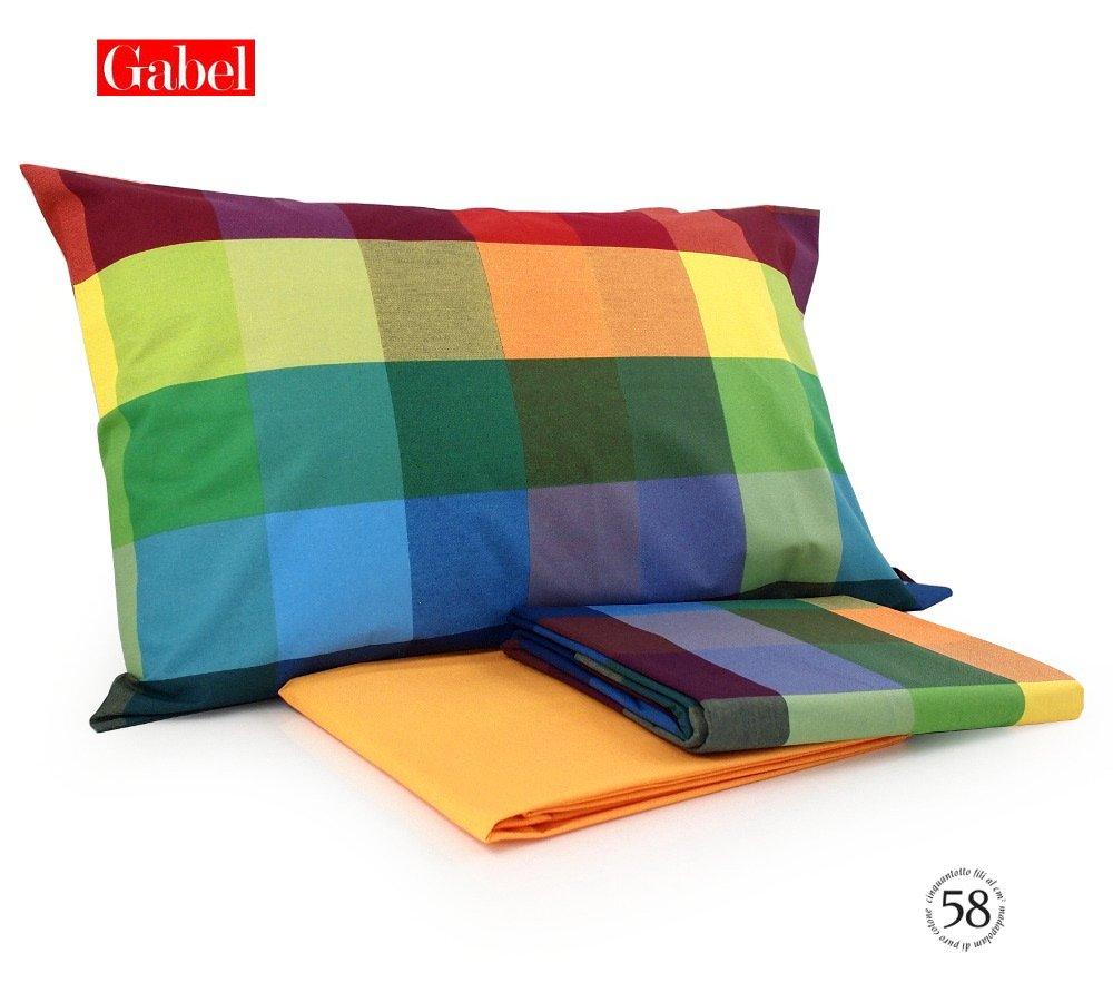 Tavella Due Di Alberto E Manuel C S N C Completo Copripiumino Piazza E Mezza Gabel Joy Art Wilson Variante Multicolor
